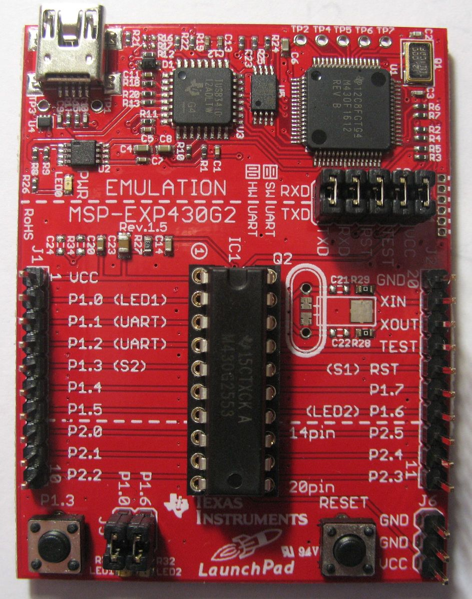 схема с микроконтроллером msp430g2553